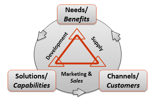 An InGenius framework for thinking: the world of Needs, Solutions and Channels