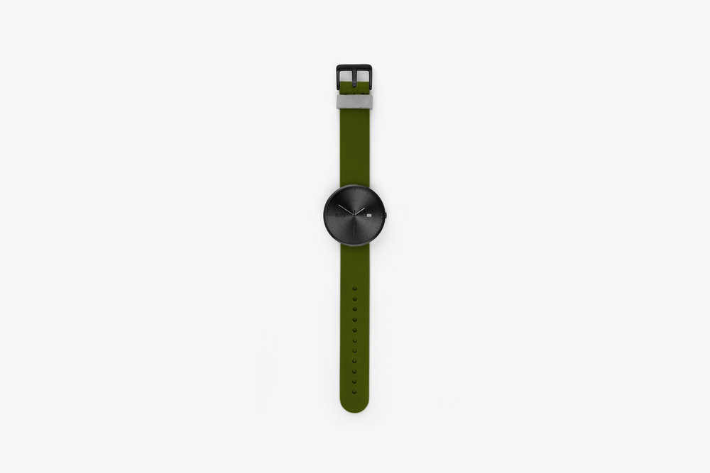 W1/d Special Edition Black PVD & Green Italian Leather view
