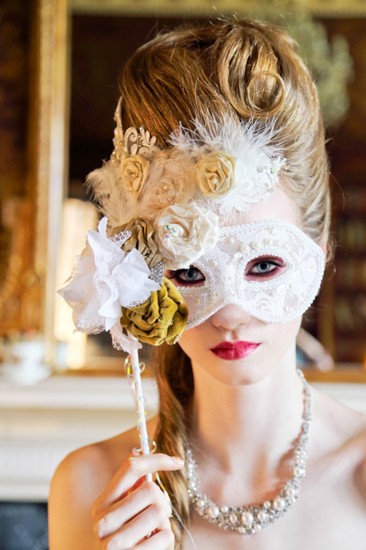 Our masquerade Marie Antoinette Masks are perfect for any traditional or Quirky bride