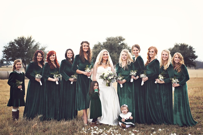 Bridesmaids in OASAP Pleuche Dress