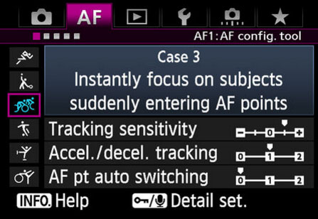 Canon's Custom AF settings