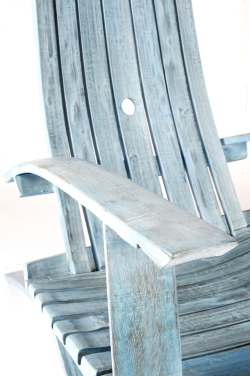 Genial Wine Barrel Chair (Nantucket Blue)