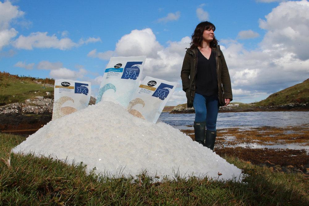Happier times: Natalie Crayton, founder of Hebridean Sea Salt, pictured at Habost, Lewis. Photos:   Stewart Attwood  .
