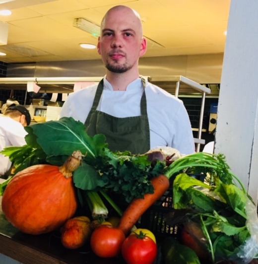 "Aurelien Mourez, head chef at Glasgow's Ox and Finch, was among the first to receive a mystery box of Glasgow-grown veg (including ""weegie wasabi"") for the Veg Cities Chefs' Challenge."