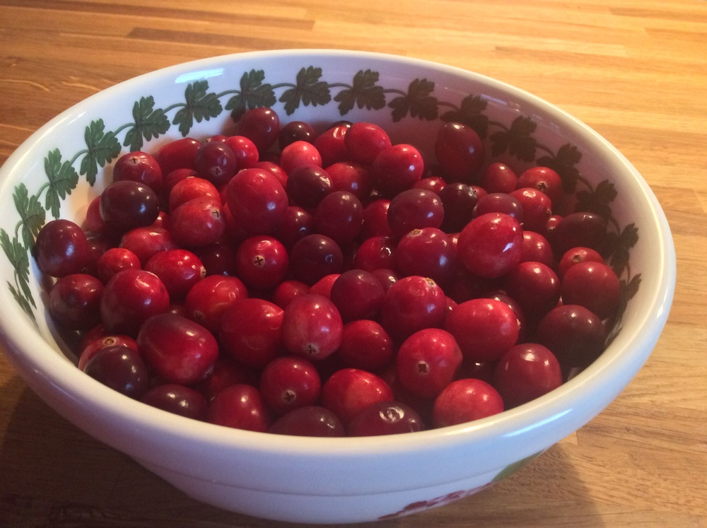 Fresh cranberries.