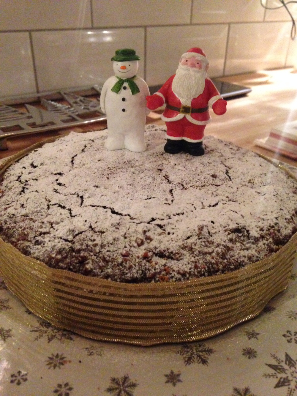This year's Christmas cake is an Italian chocolate and nut cake.