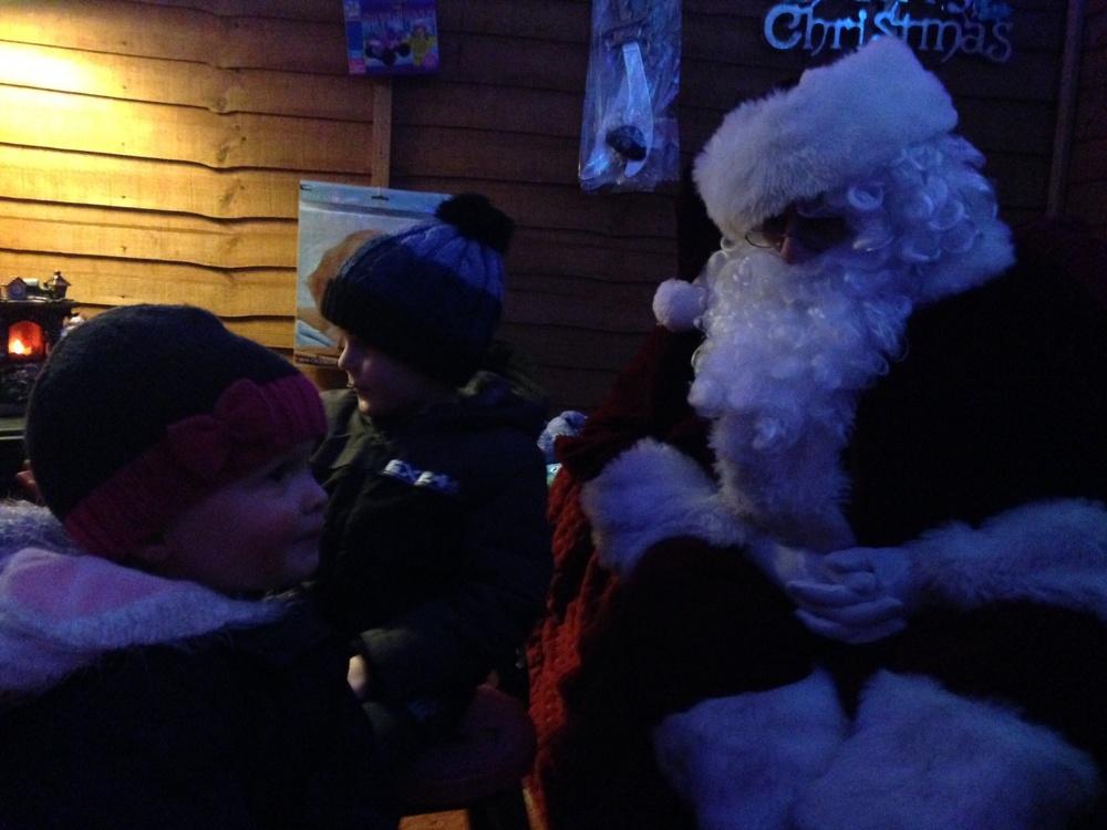 Meeting Santa.