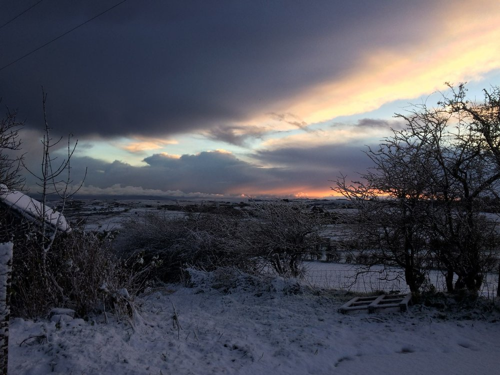 A friend's photograph of yesterday morning up here on the North Coast.