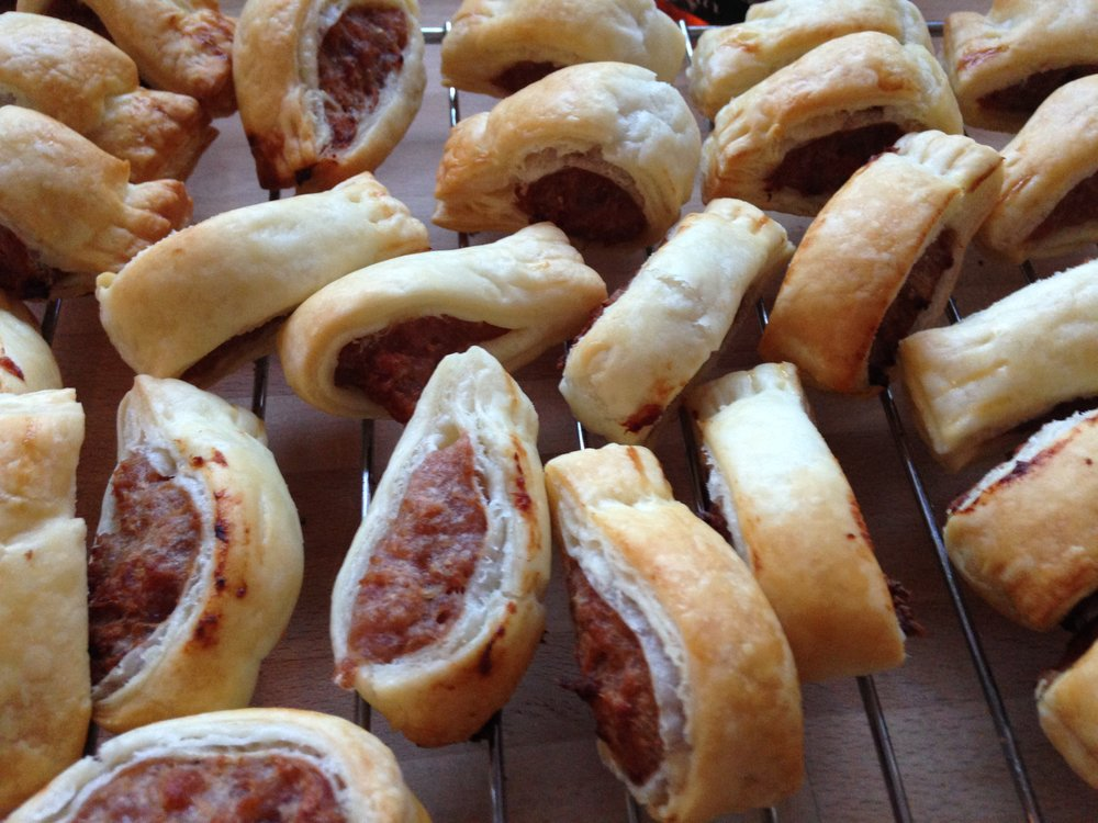 In my opinion, sausage rolls are one of the best Christmas party foods: simple, tasty & seasonal.