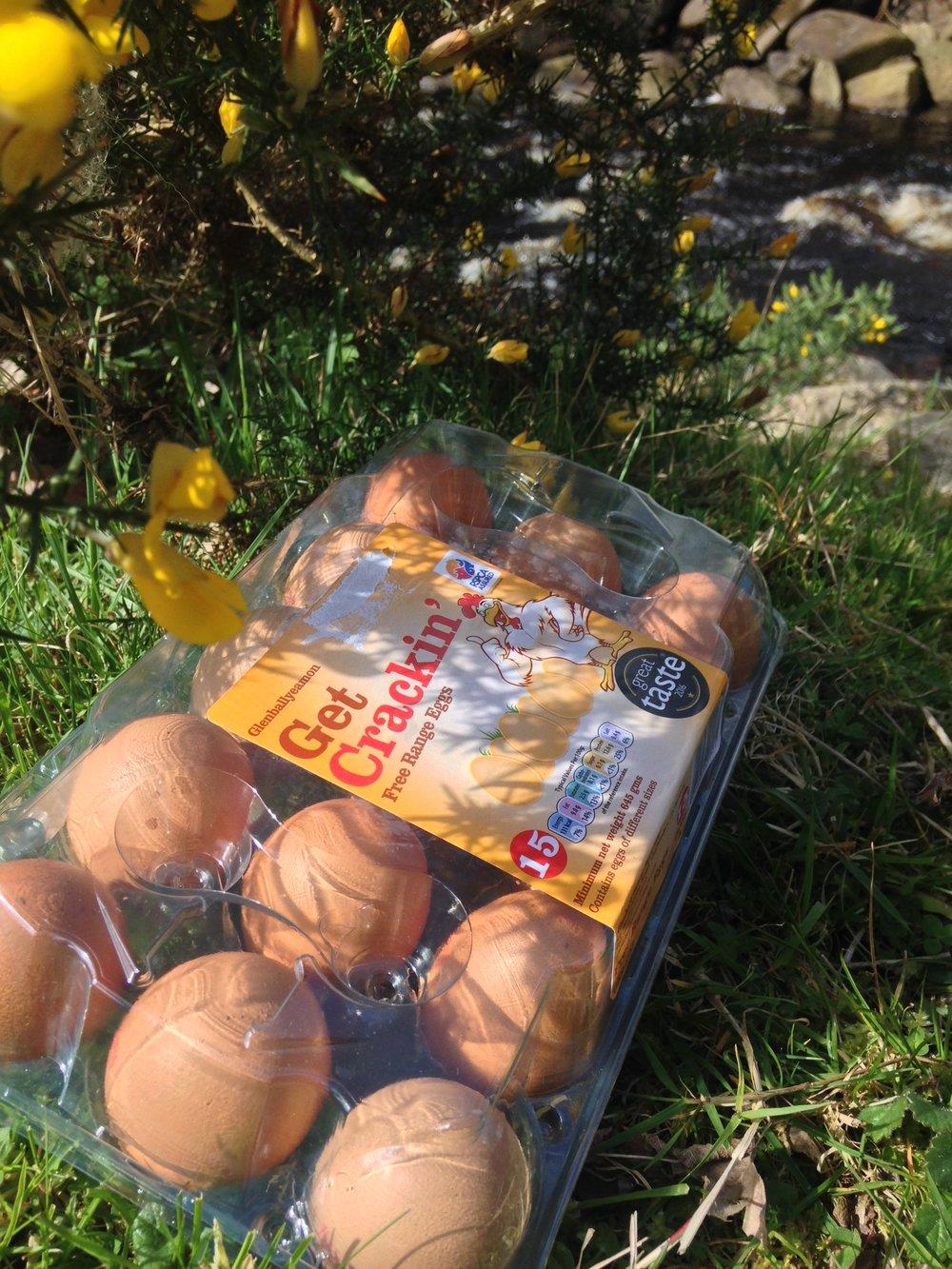 Glenballyeamon free range eggs.