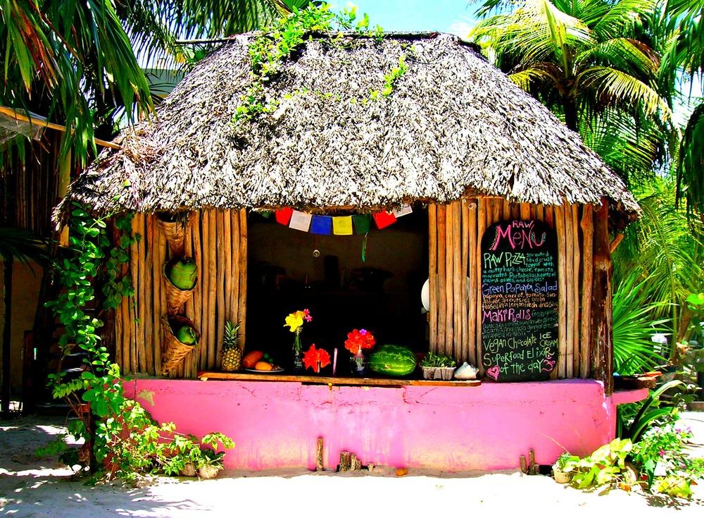 Raw Food stand at ahau