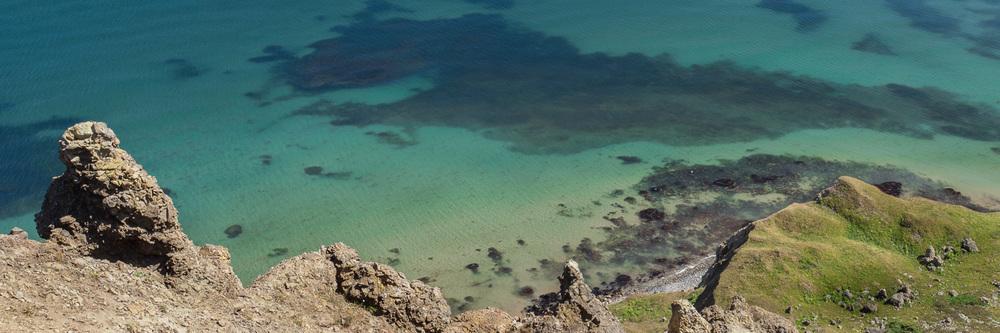 Photo de paysage aux Iles de la Madeleine - vue des buttes pelées