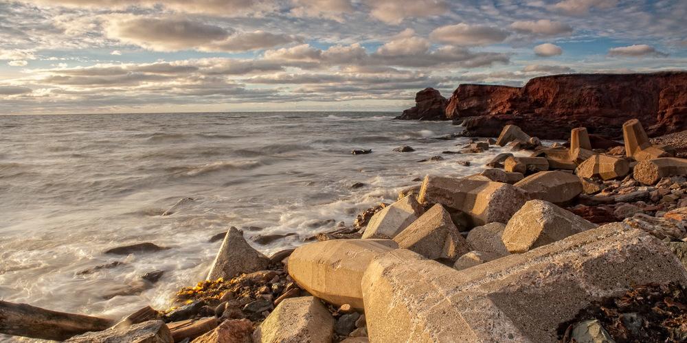Photo de paysage aux Iles de la Madeleine - la Côte