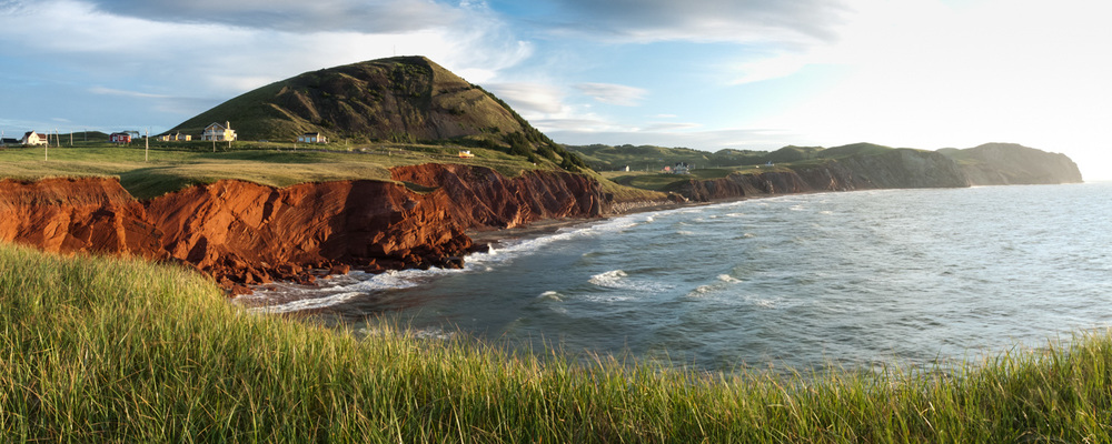 Landscape photo in the Magdalen Islands - view of L'échouerie in House Harbor