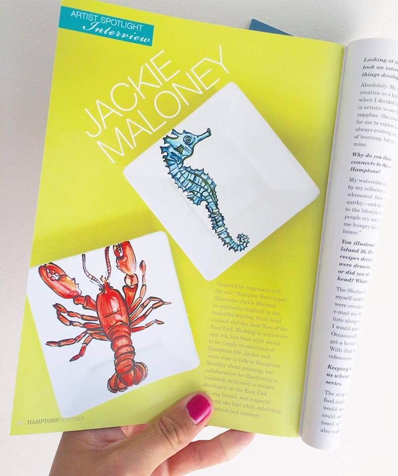 Read Jackie's  Hamptons Monthly  Artist Spotlight interview  here .