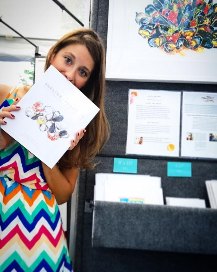 Exhibiting at the  Hilton Head Fine Arts Festiva l with her illustrated cookbook,  The Shelter Island 36  by  Chef Jason Casey