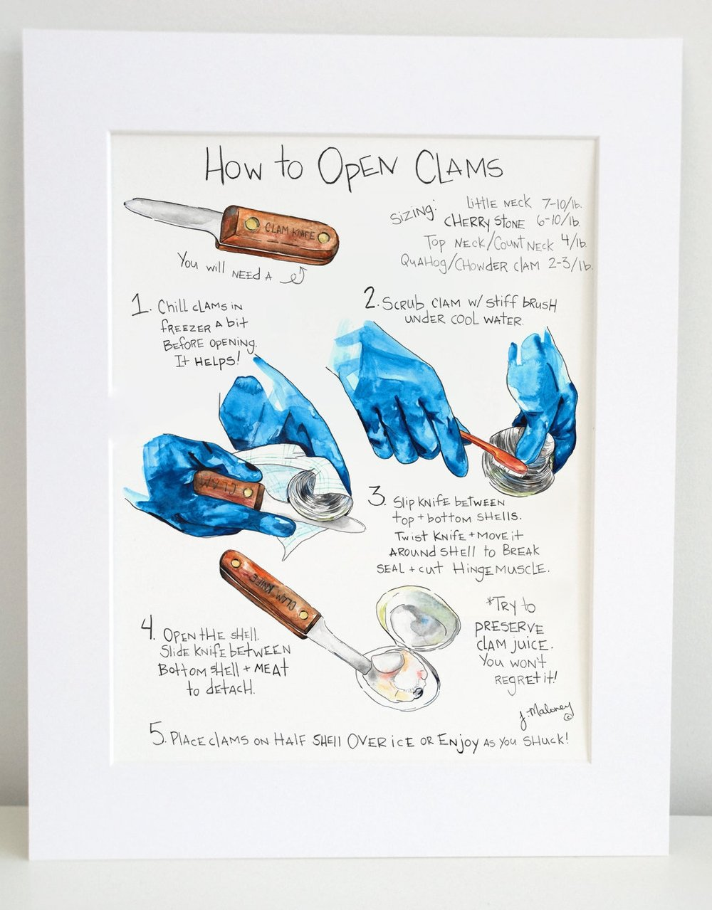 How to Open Clams is now available in my print shop .