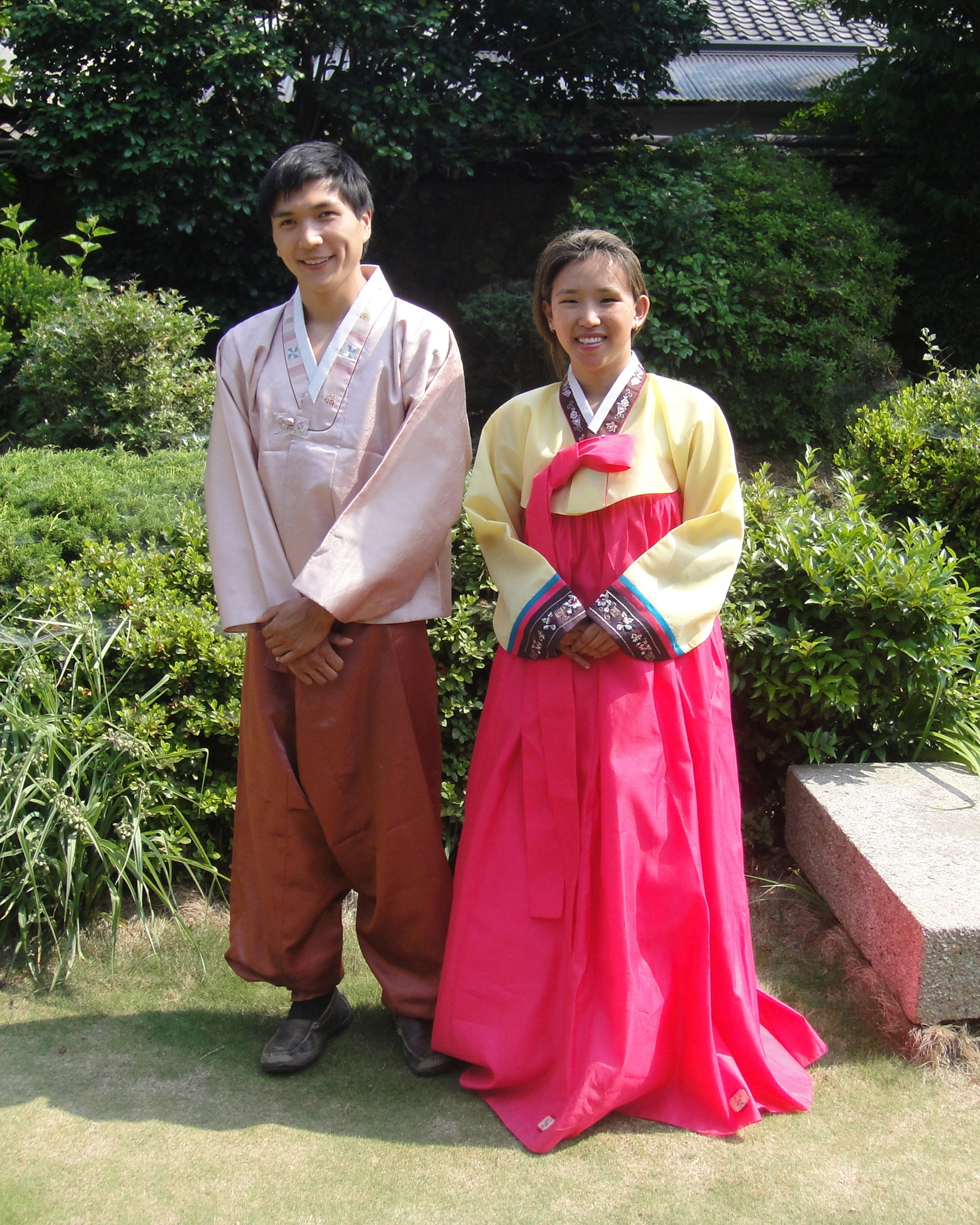 Korean hanbok costume