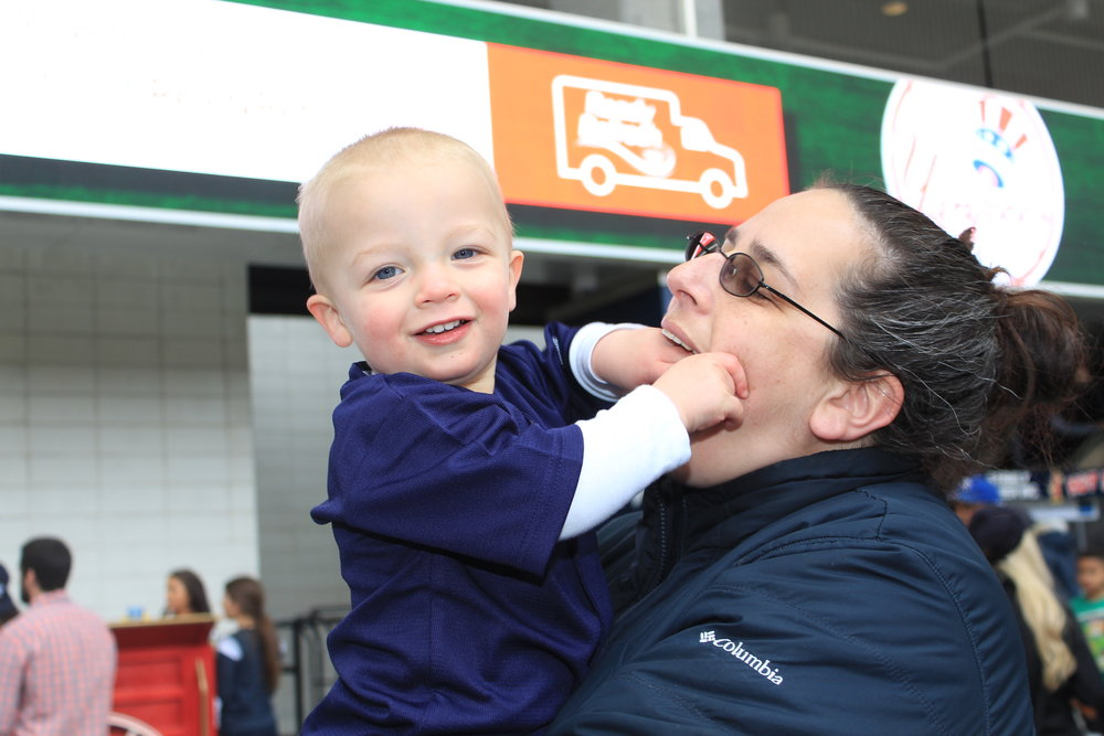 Michael and Mom Yankee Stadium.JPG