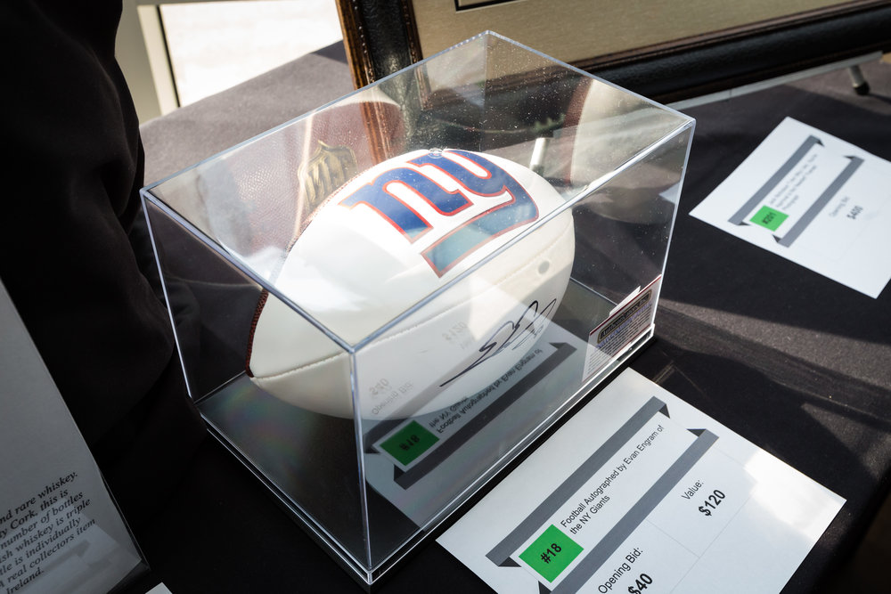 Auction Item: Evan Engram Autographed NY Giants Football