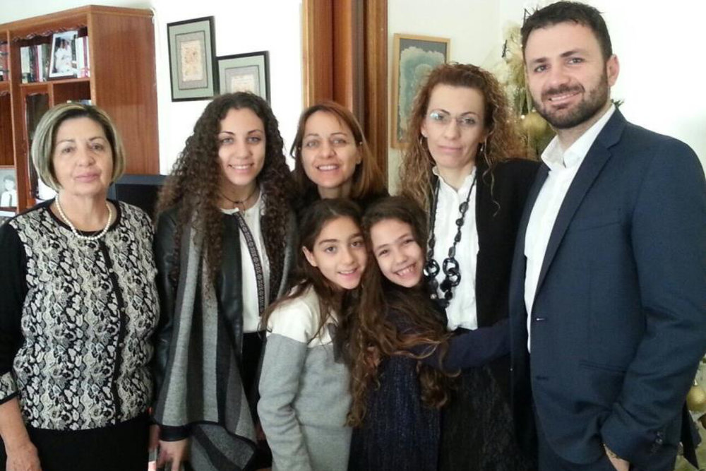Antonis with his family in Cyprus