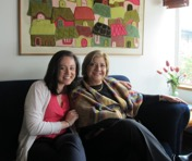 Associate Director of International Adoptions Sam Moore with Carmen Elena