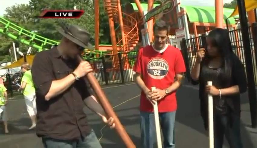 """Learning How To Play The Didgeridoo"" FOX2 Now Six Flags St. Louis, MO"