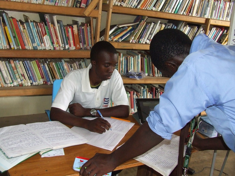 Mentoring programs are ongoing to develop the older teen members as capable tutors.