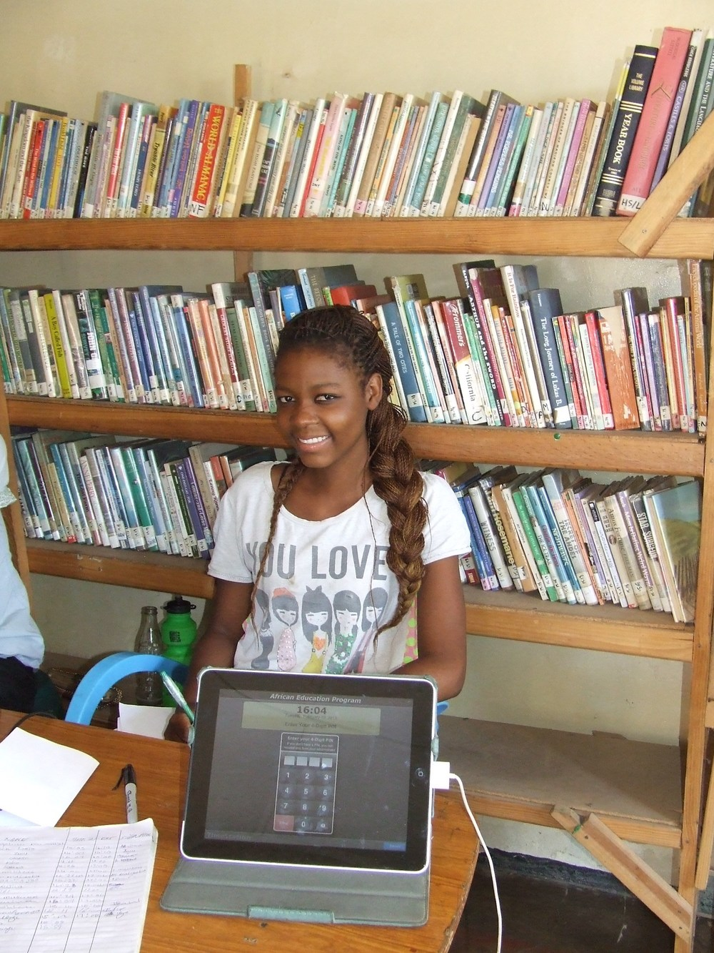 Students have access to over 3,000 books to help prepare for their exams or enjoy a good story.