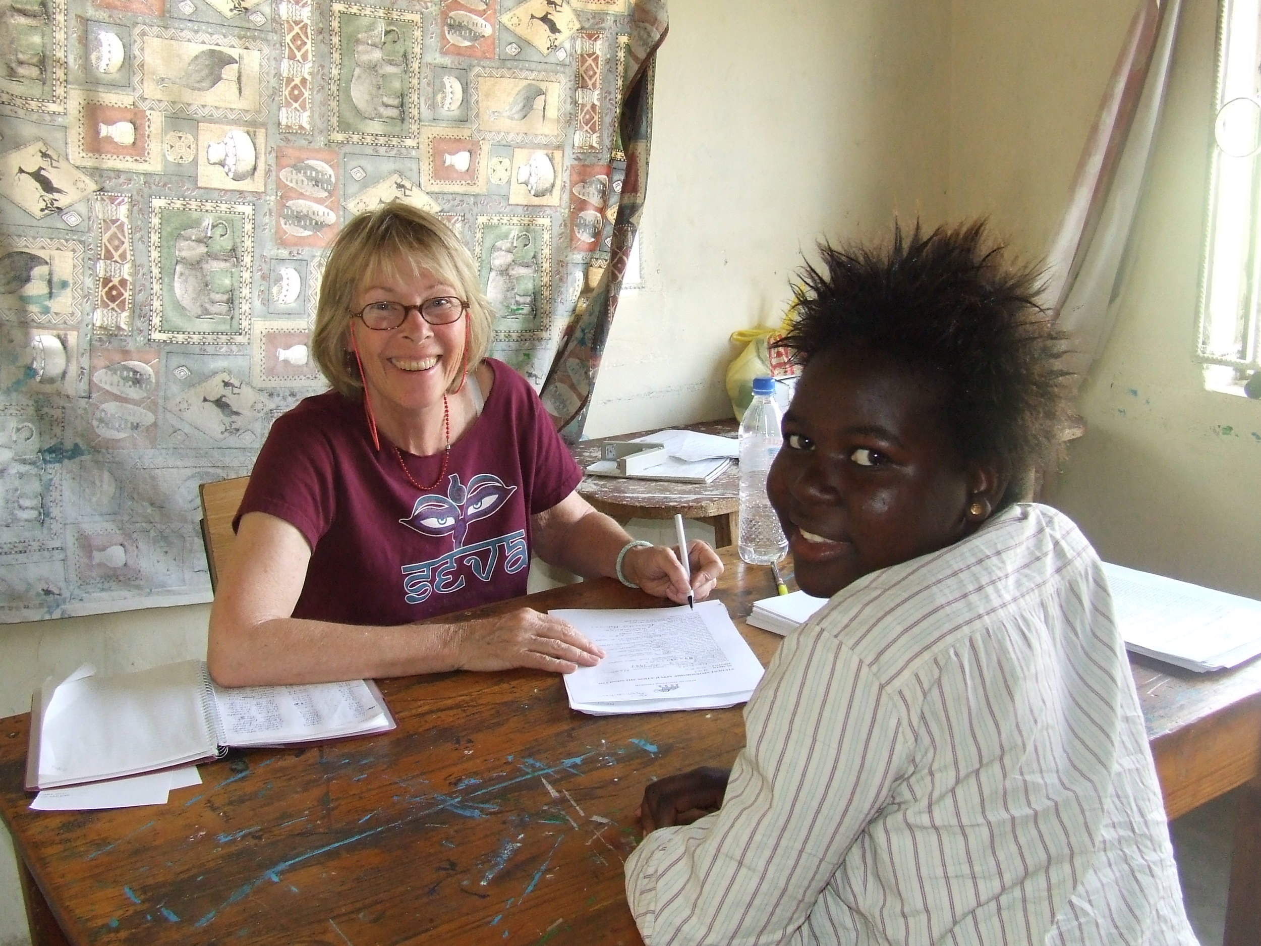 Sally, an AEP volunteer, during the interview process.