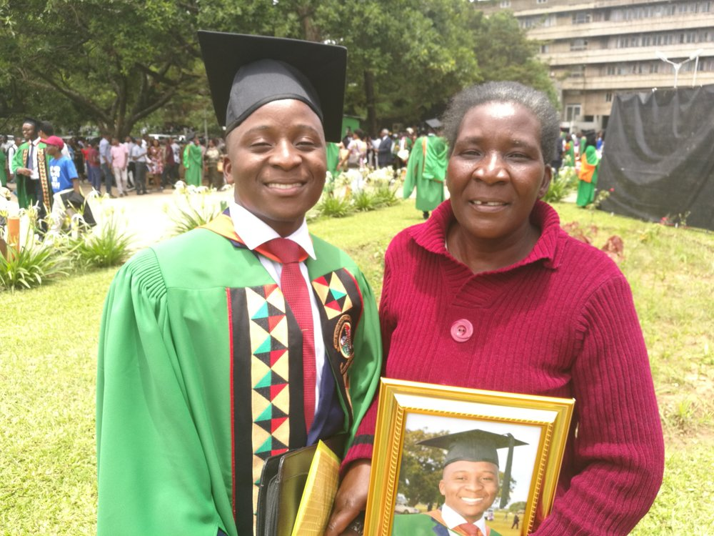 Thanks to scholarships provided each year by the Kings, in January, 2017, Smart graduated with BA in Demography with Economics from Zambia's best university.