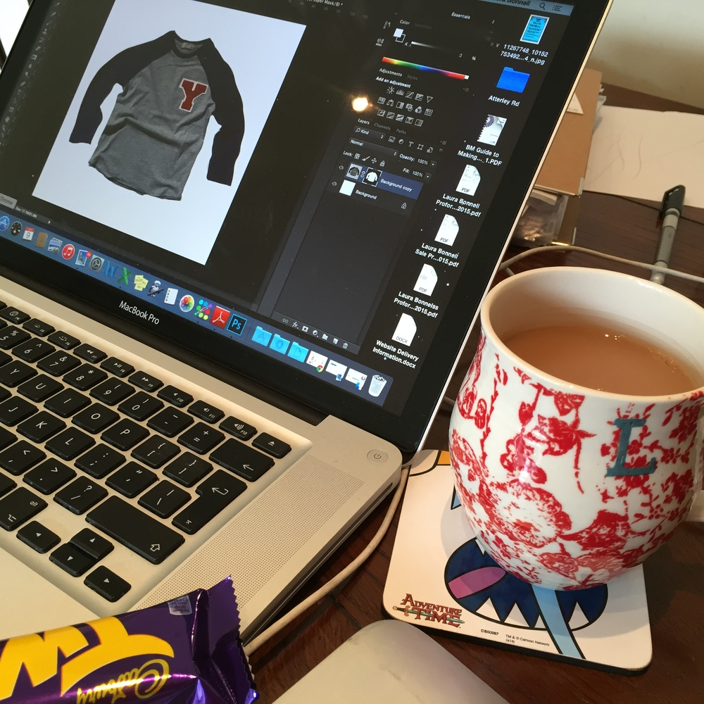 Using nap time to photoshop images ready for website. Powered by caffeine & twirl
