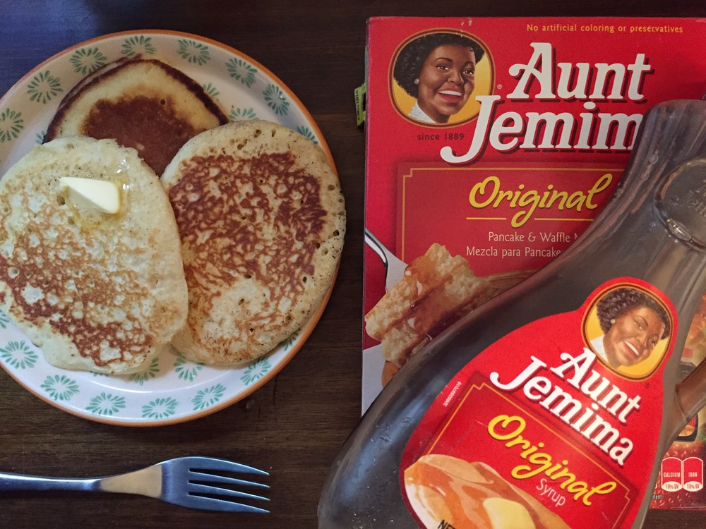 Aunt Jemima's pancakes feature regularly on the weekend muklet menu