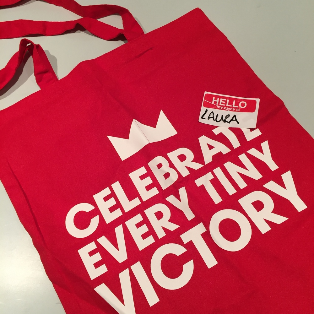 Gotta love a freebie - neato lil tote bag from Mothers Meeting
