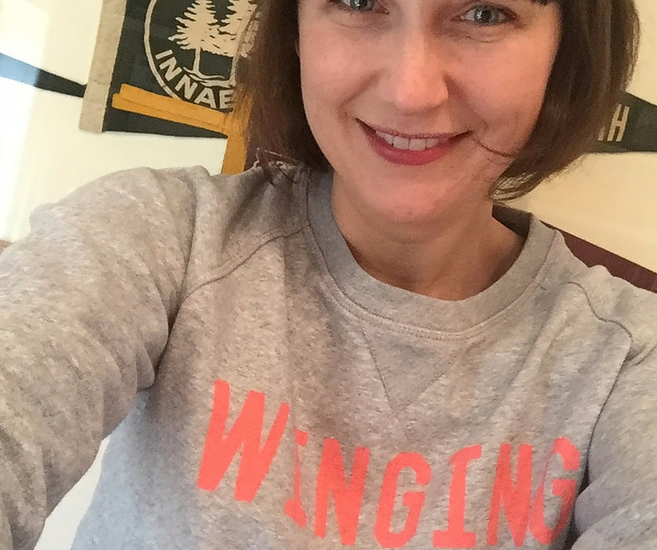Totally #wingingit but telling you all about it along the way. Sweatshirt from  Selfish Mother