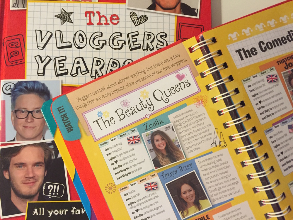 The Vloggers Year Book, and My Vlog Log from Studio Press