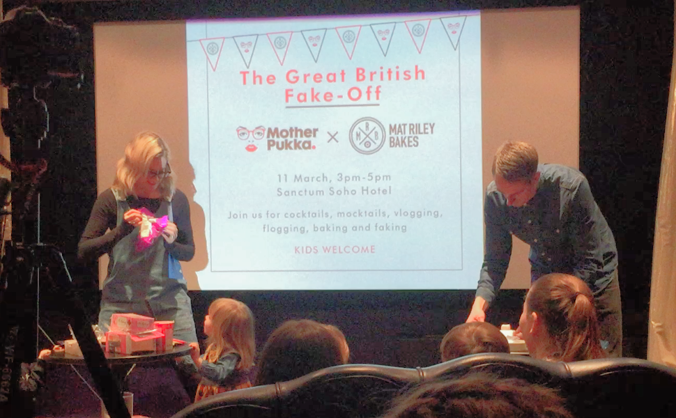Great British Fake Off in action with Anna Whitehouse (+ urchin) and Matt Riley