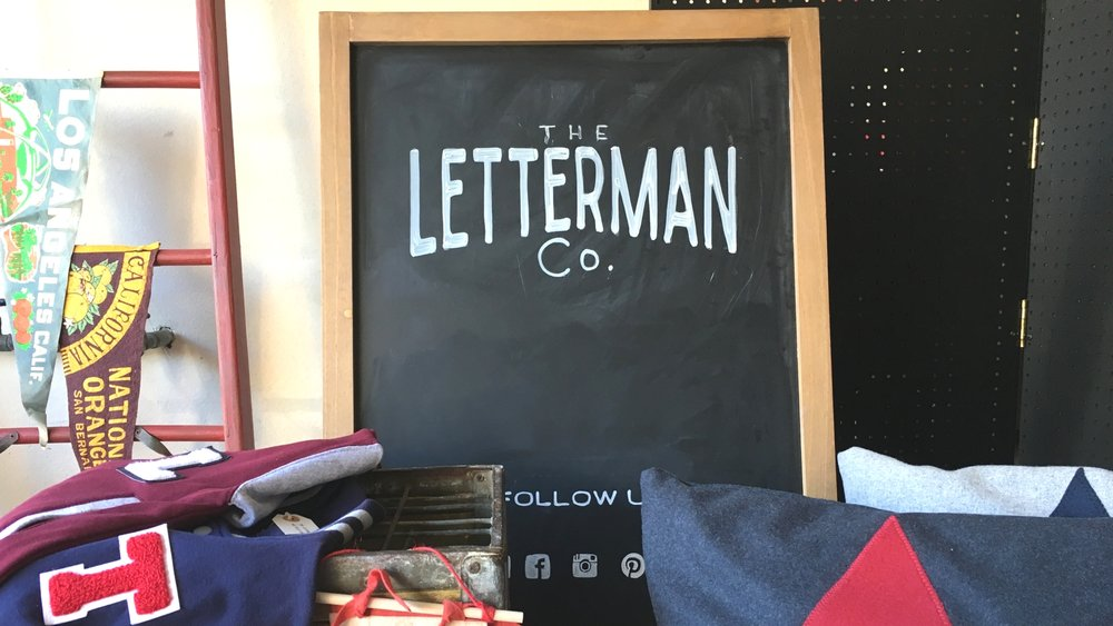 The Letterman Co blackboard
