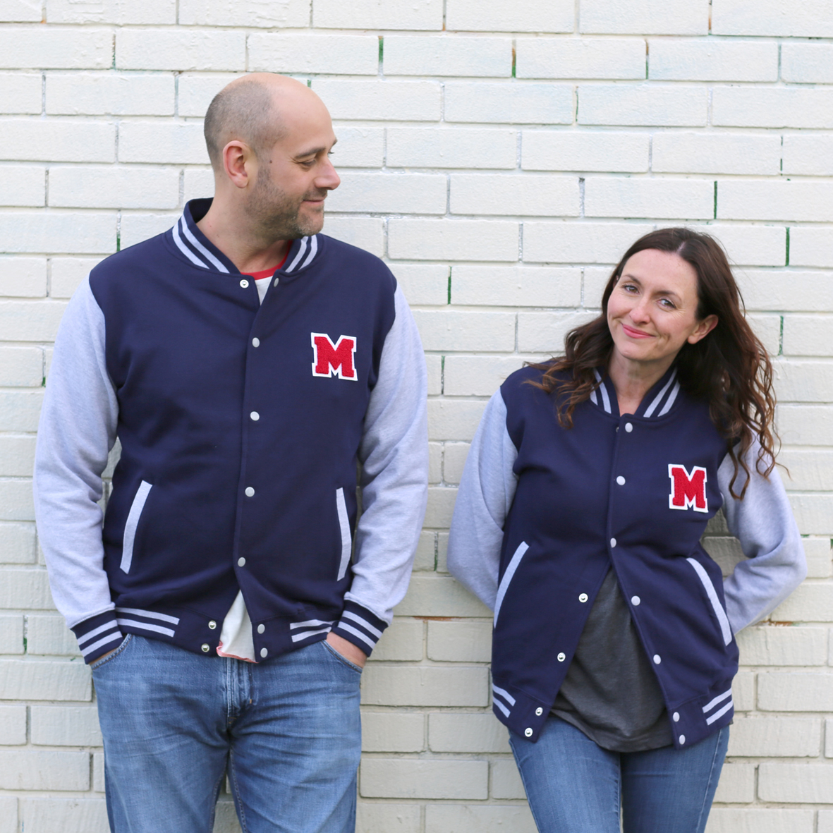 Letterman Varsity Baseball Jacket Navy Adult — muklet