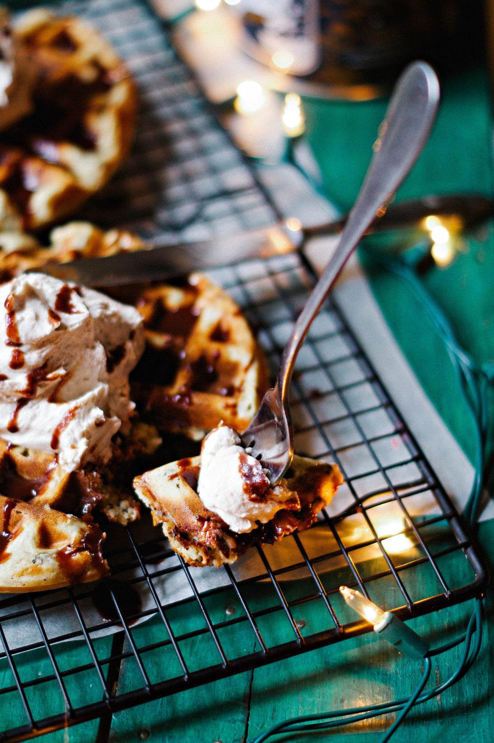 Earl Grey Waffles w/ Sweet Lucuma Coconut Cream