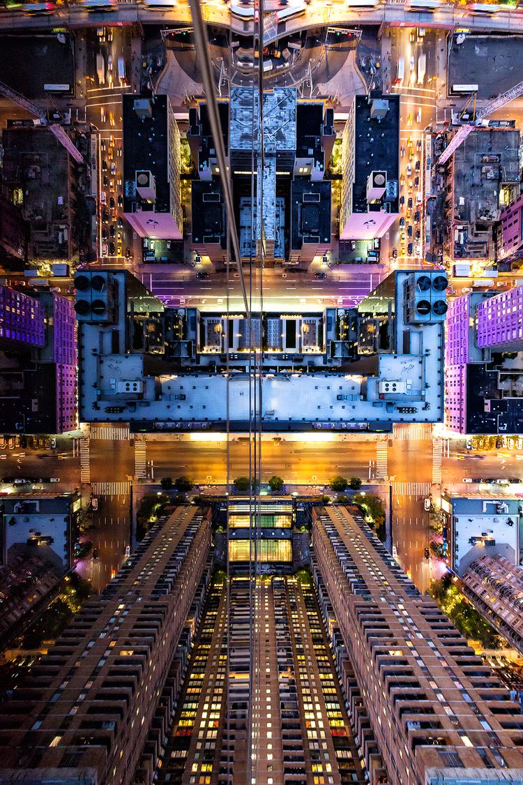 la ville en reflet