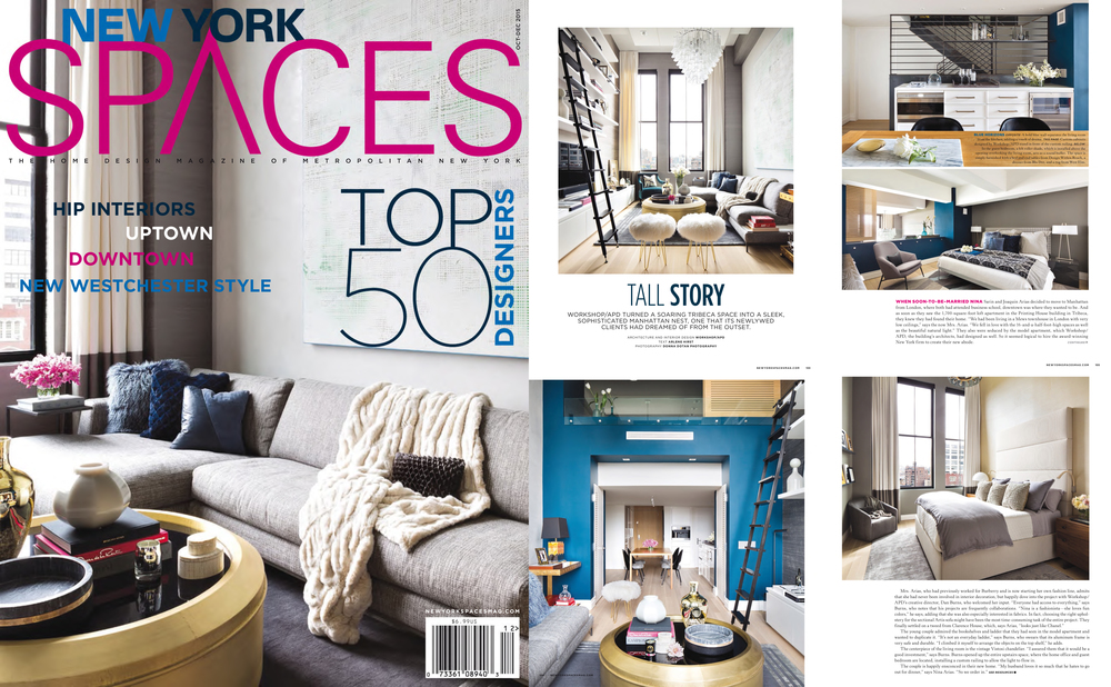 New York Spaces - cover story