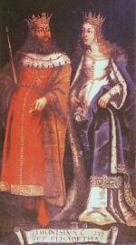King Dinis and Queen Isabel of Portugal
