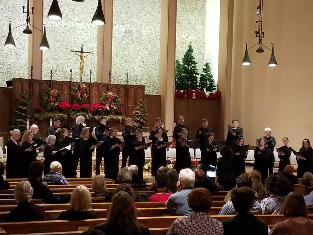 Jouyssance performing An International Twelfth Night at St. Paul the Apostle Catholic Church on Saturday, January 6, 2018.