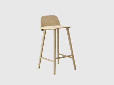 "Muuto ""Nerd"" Stool in a matte Light Oak finish"