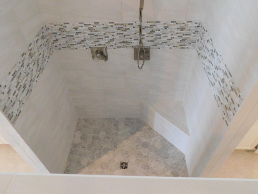 Remodeled Master Shower on Lake Conroe