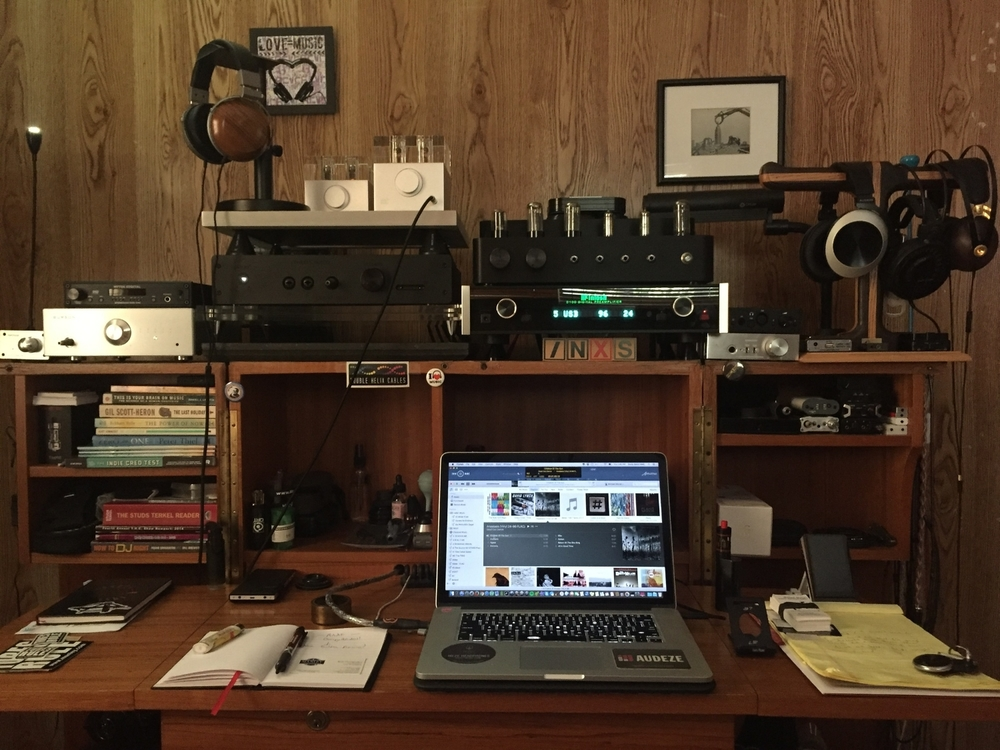 The Sonic Satori Personal Audio Lab is finally back up-and-running. Though it will be relocated again - it's been amazing being behind the desk again.