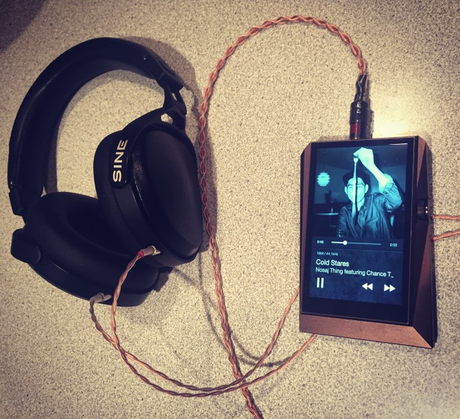 Audeze's spectacular SINE on-ear planar-magnetic cans (Worlds 1st) w/ Double Helix Cables & Astell-n-Kern's statement AK380 DAP