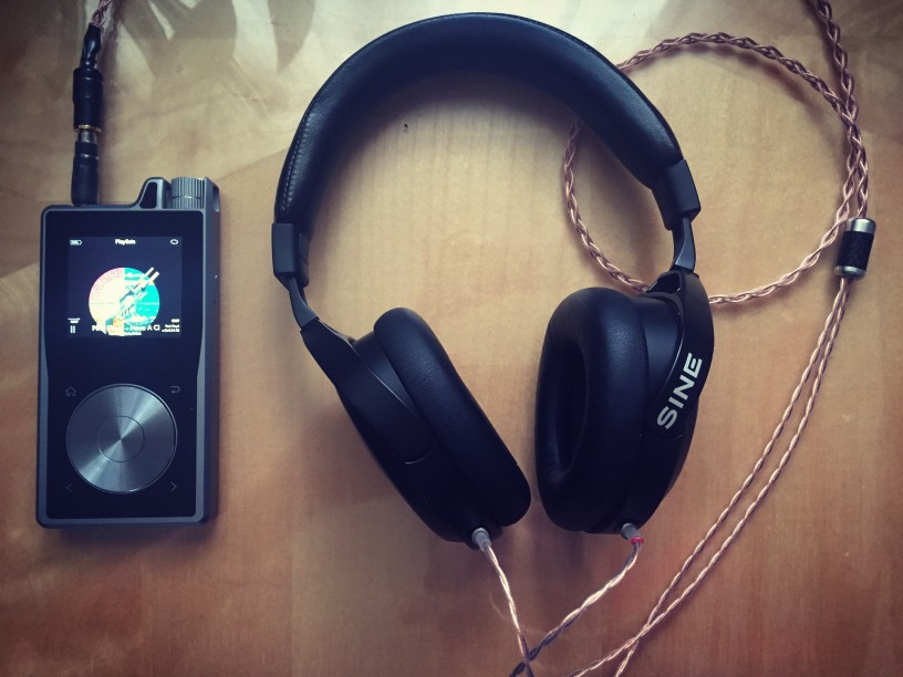 """My Beloved Audeze SINE on-ear planar magnetic headphones w/ Double Helix Cables (UNLEASHES their POTENTIAL) w/ my Questyle Audio QP1R - A DAP that bottlenecks your ADHD Ass into Actually Listening to the MUSIC! As Bruce Ball, CEO of Questyle North America Inc says """"we don't have Angry Birds on the QP1R, we're all about the music."""" Their product proves it."""