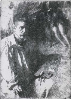 Value etching by Anders Zorn